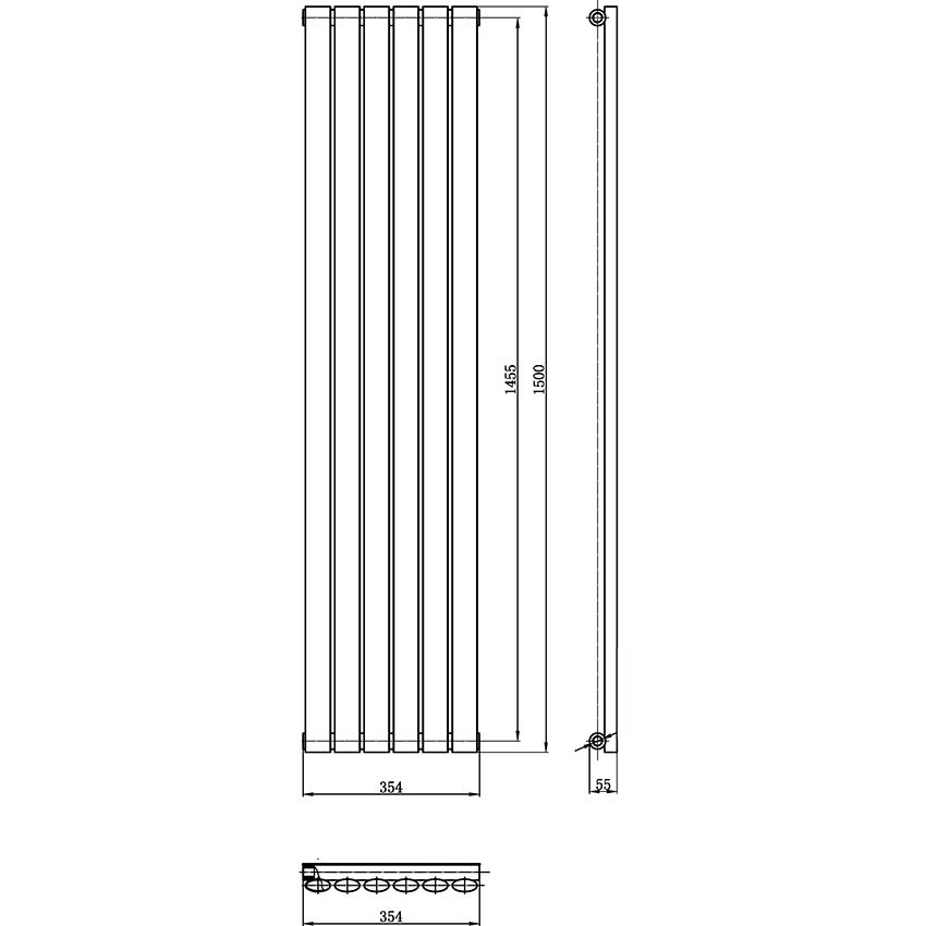 Designer Radiator - High White Gloss - 1500 x 354mm HL367H.jpg