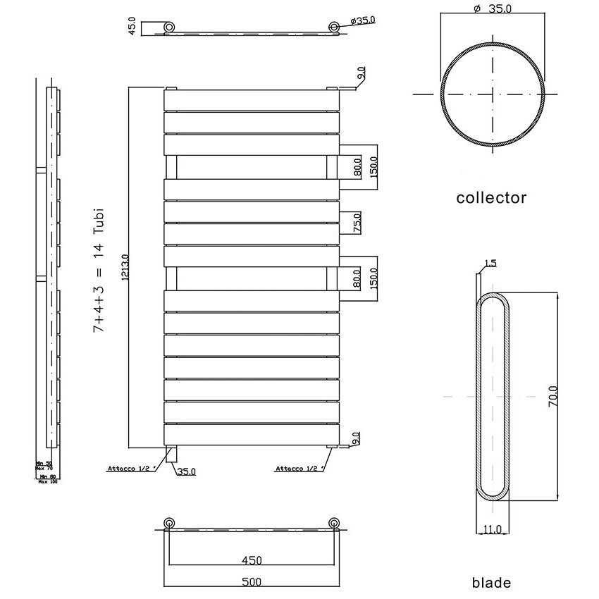 Flat Panel Heated Towel Rail - Anthracite HLA35 view_map.jpg