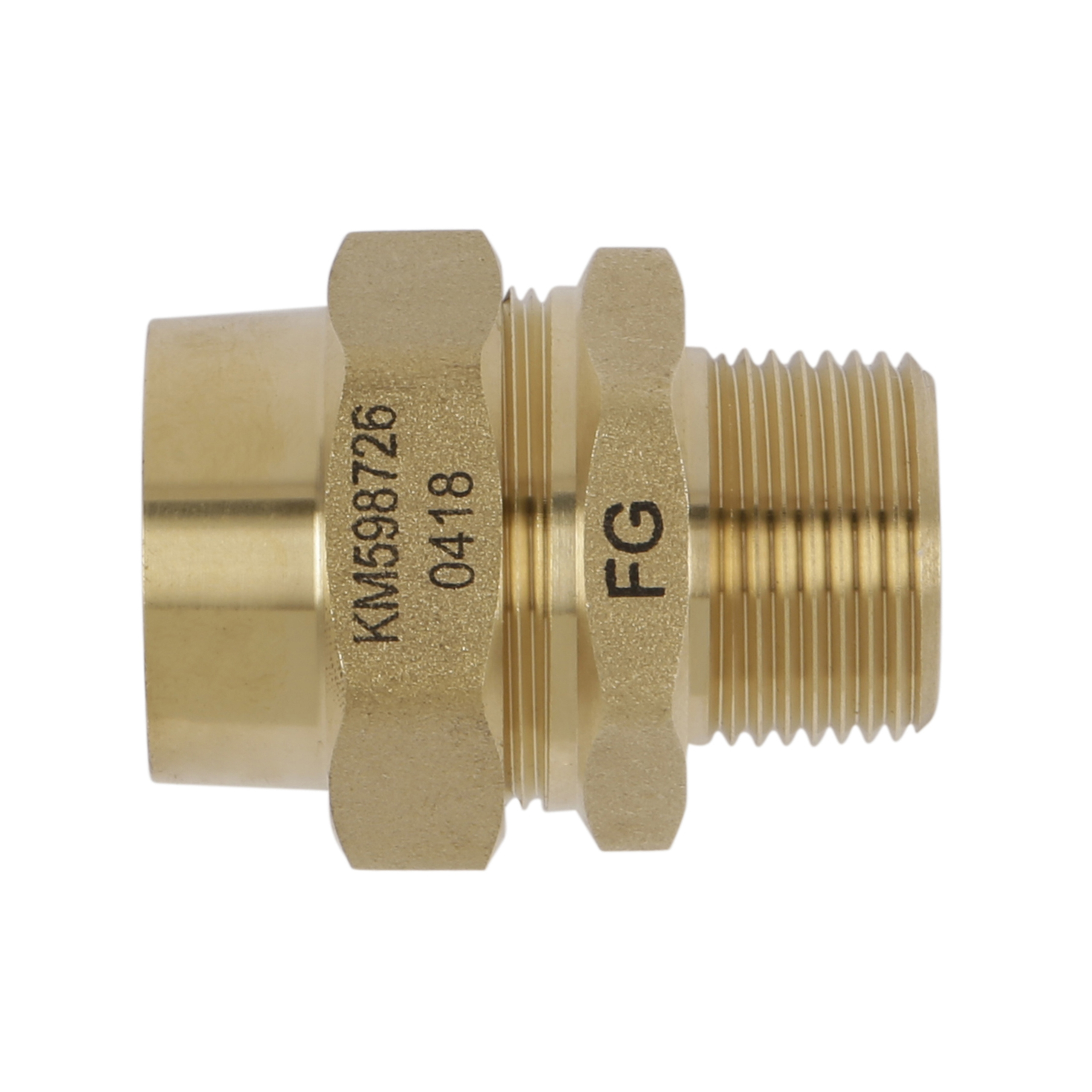 FlexiGas 22mm x 3 by 4 Inch  Male Straight Connector.jpg