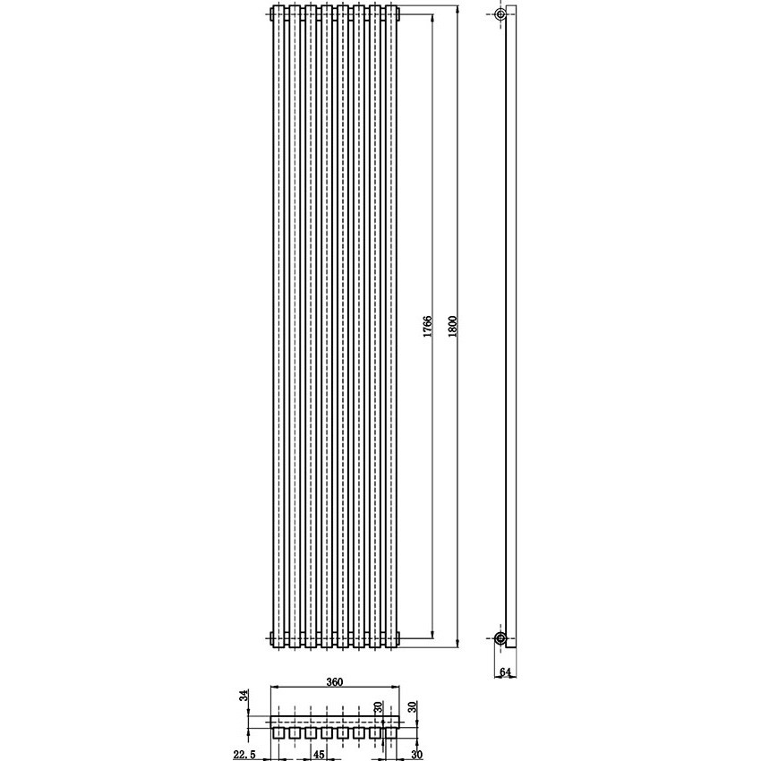 Kinetic Designer Radiator - High Gloss White - 1800 x 360mm HLW96 map.jpg