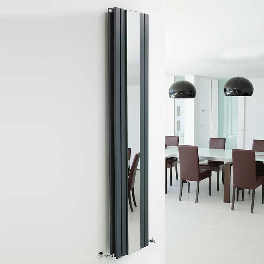 Sloane Double Panel Designer Radiator With Mirror - Anthracite - 1800 x 381mm HLA84 view.jpg