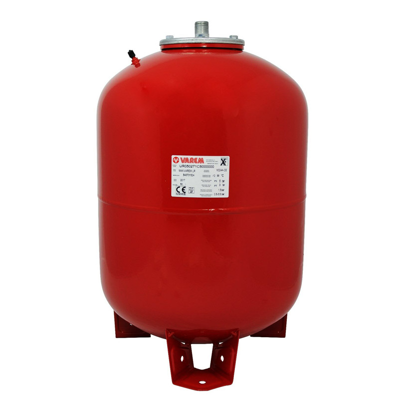 varem 50 liter red heating expansion vessel.jpg